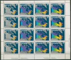 Kanada 1981 Territorium Entwicklung Kanadas 801/04 ZD-Bogen Postfrisch (C93906) - 1952-.... Reign Of Elizabeth II