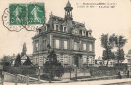 78 Maisons Laffitte Hotel De Ville Double Cachet Convoyeur Ambulant Paris à Mantes 1913 - Maisons-Laffitte