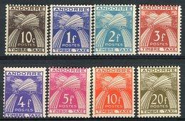 ANDOREE TIMBRES TAXE N° 32 à 39 / 8 Valeurs Neuves Sans Charnières ** (MNH) Cote 32 €. TB - Postage Due