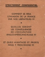 PROPAGANDE #121 WWII GUERRE 1939 1945 BROCHURE ANTI ALLIES OCCUPATION ANGLO AMERICANO RUSSE - 1939-45