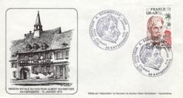 FRANCE 1824 FDC 1er Jour Albert SCHWEITZER Nobel Paix Cachet KAYSERSBERG Maison Natale [GR] - Albert Schweitzer
