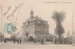 78 Maisons Laffitte Hotel De Ville Cachet Convoyeur Ambulant Paris à Mantes 1905 - Maisons-Laffitte