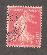 Perfin/perforé/lochung France No 194 C.B. Cie De Béthune - Gezähnt (Perforiert/Gezähnt)