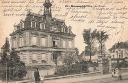78 Maisons Laffitte La Mairie Paire Attachée Timbres Semeuse + Cachet 1912 - Maisons-Laffitte