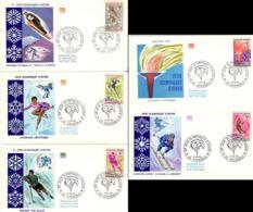 FRANCE 1543 à 1547 FDC 1er Jour Jeux Olympiques Hiver Grenoble 1968  [GR] - Winter 1968: Grenoble