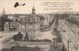78 Maisons Laffitte Vue Panoramique La Mairie Perspective Avenue Longueil Entrée Parc Avenue Egle , Avion - Maisons-Laffitte