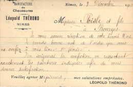 30 GARD Carte Postale Commerciale De La Manufacture De Chaussures Leopold Thérond De NIMES - Nîmes