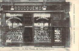 10 AUBE Carte Postale Commerciale Du Magasin De Chaussures Boucquemont à TROYES - Troyes