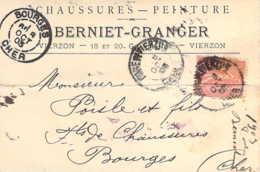 18 CHER Carte Postale Commerciale De La Maison Bernier Chaussures à VIERZON - Vierzon