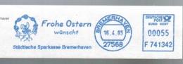 EMA METER STAMP FREISTEMPEL EASTER BELLS EGG PASQUA PAQUE RABBIT LAPIN OSTERFEIERTAGE - Easter