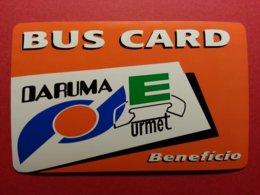 BRESIL BUS CARD ORANGE Daruma URMET 10u Telephone Test Inductive BRASIL Mint Unused Neuve (BA1019 - Brazilië