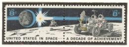 United States 1971 Mi# 1046-47** SPACE ACHIEVEMENT DECADE - Unused Stamps