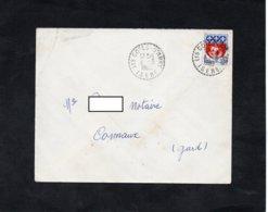 LSC 1965 - Cachet Perlé - LES COTES D'AREY (Isère) - 1961-....