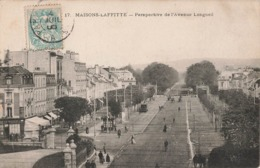 78 Maisons Laffitte Perspective De L' Avenue Longueil Cachet 1905 - Maisons-Laffitte