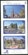 Japan - Sold Only In New Zealand - OK Gift Shop - 1992 Christchurch Set (3) - Mint In Folder - NZ-J-8SF - Nieuw-Zeeland