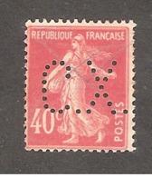 Perfin/perforé/lochung France No 194 C.X. Sté Des Mines De Carmaux Houillères Aquitaine - Perforadas