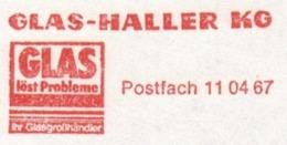 EMA METER STAMP FREISTEMPEL GERMANY DARMSTADT GLAS HALLER GLASS VETRO INDUSTRY - Fabbriche E Imprese