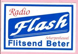 Sticker - RADIO Flash - Scherpenheuvel - Flitsend Beter - Autocollants