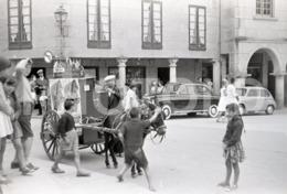 1965 BURRO MUSICA ITENERANTE PONTEVEDRA GALICIA ESPANA SPAIN ESPAGNA AMATEUR 35mm  ORIGINAL NEGATIVE Not PHOTO No FOTO - Photography