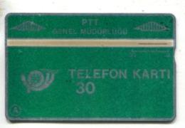 TK 13755 TURKEY - L&G PTT 30 - Blank Reverse 906C... - Turkije