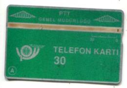 TK 13757 TURKEY - L&G PTT 30 - Blank Reverse 008B... - Turkije