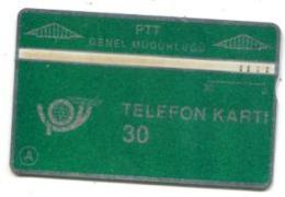 TK 13758 TURKEY - L&G PTT 30 - Reverse  T.C. Ziraat Bankasi 103B... - Turkije