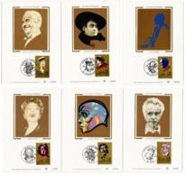Carte Maximum 1990 - La Chanson Française YT 2649 à 2654 - Brassens, Brel, Piaf, Rossi, Chevalier, Bruant - Maximum Cards