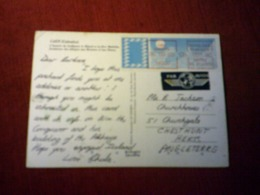 CAEN  LABBAYE   CALVADOS 14  LE  06 08 1985  PAR AVION - Caen