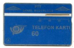 TK 13762 TURKEY - L&G PTT 60 - Reverse   T.C. Ziraat Bankasi 910A... - Turkije