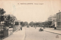 78 Maisons Laffitte Avenue De Longueil Vieille Voiture Auto Automobile Cachet Convoyeur Ambulant 1935 Mantes Paris - Maisons-Laffitte