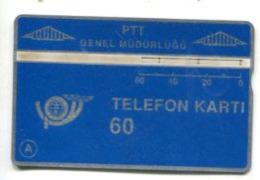 TK 13764 TURKEY - L&G PTT 60 - Blank Reverse  009C... - Turkije