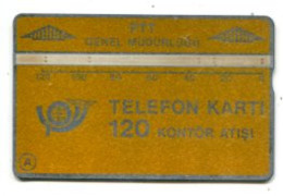 TK 13766 TURKEY - L&G PTT 120 - Blank Reverse  903A... - Turkije