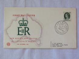 Australia 1963 FDC Cover - Queen - Map - 1952-65 Elizabeth II : Pre-Decimals
