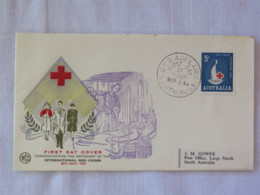 Australia 1963 FDC Cover To Australia - Red Cross - Nurse - 1952-65 Elizabeth II: IEmissione Prima Decimali