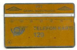 TK 13767 TURKEY - L&G PTT 120 - Blank Reverse  907A... - Turkije