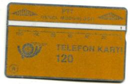 TK 13769 TURKEY - L&G PTT 120 - Blank Reverse  003A... - Turkije