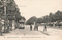 78 Maisons Laffitte Avenue De Longueil Station Des Tramways Tram Tramway - Maisons-Laffitte