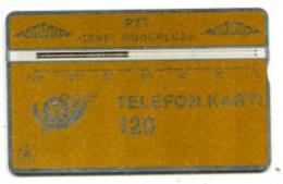 TK 13770 TURKEY - L&G PTT 120 - Blank Reverse  109E... - Turkije