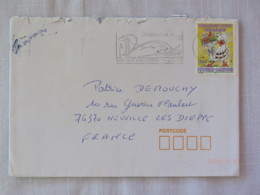 New Caledonia 2005 Cover To France - Golf Cancel - Greetings - Bird - Cartas