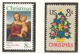 United States 1973 Mi# 1123-24** CHRISTMAS - Unused Stamps