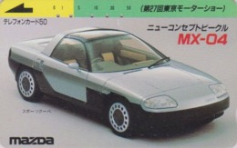 Télécarte Japon / 110-35400 - Voiture MAZDA MX-04 * TOKYO MOTOR SHOW * - CAR Japan Phonecard - Auto Telefonkarte - 3374 - Cars