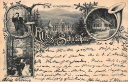 GRUSS Vom SCHINDELPETER~PROSIT!-FILIALE WALDHORN-GERTELBACH~LOHMULLER 1902 PHOTO POSTCARD 42078 - Bühlertal