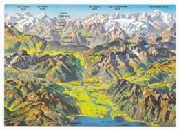 Switzerland - La Plaine Du Rhön (Landkarte) - Landkaarten