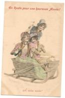 WICHERA Illustrateur VIENNOISE - FEMMES DANS LUGE CHAMPAGNE - Alcool -M M Vienne N° 206 DOS SIMPLE - Wichera