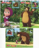 "Russia 2019 Set 3 MC Maximum Cards ""Masha And The Bear» Russian Animated Television Series - Cinema"