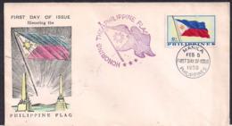 Philippines - 1959 - FDC - Drapeaux Philippins - Filipinas