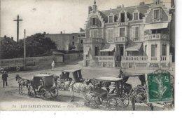 """85 - LES SABLES D ' OLONNE - T.B. Vue Animée De La Villa """" Marie Marcelle """" ( Tampon E.Boulanger Quincaillerie PARIS) - Sables D'Olonne"""