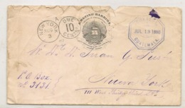 GUATEMALA EXHIBIT ITEM 1880 PARTICULAR COVER From PRESIDENT J. RUFINO BARRIOS To NEW YORK Taxed - PRESIDENTIAL CLOSING - Guatemala