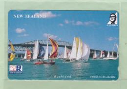 Japan - Sold Only In New Zealand - OK Gift Shop - 1990(?) Bridge & Yachts 50u (1) - Mint - NZ-J-5B - Neuseeland