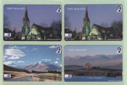 Japan - Sold Only In New Zealand - OK Gift Shop - 1991 Christchurch Set (4) - Mint - NZ-J-6S - Neuseeland